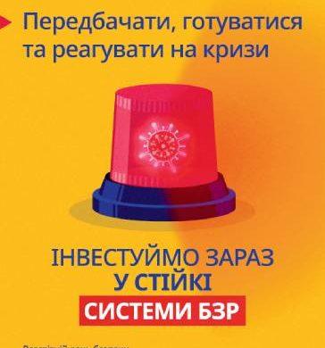 Під девізом «Передбачати, готуватися та реагувати на кризи – інвестуймо зараз у стійкі системи БЗР» Україна у 2021 році відзначатиме День охорони праці